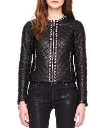 MICHAEL Michael Kors Stud Trim Quilted Leather Jacket