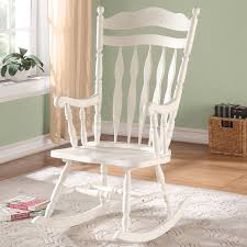 Furniture: White Rocking Chair For Nursery On Lowes Rugs And Kahrs ...