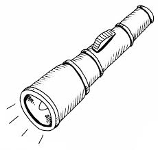 Flashlight Coloring Page Designs Canvas