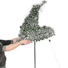 6ft Pre Lit Snow Flocked Pop Up Christmas Tree 200 Warm White Lights