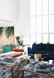 blau weiß marmorierte sessel im bild kaufen 12423343