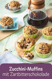 zucchini muffins mit zartbitterschokolade
