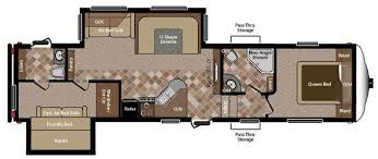 Fifth Wheel Bunkhouse Floor Plans by 5th Wheel Rv 2 Bathrooms Floor Plans Rv Sprinter Copper