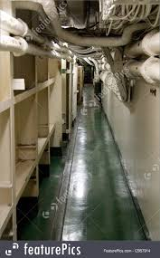 100 Aircraft Carrier Interior Transportation A Corridor On The Aircraft Carrier The USS Midway Which Is Docked In San Diego California