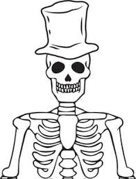 Dinosaur Skeleton Coloring Page Halloween Printable 09