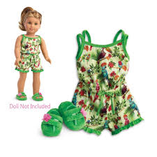 Amazoncom American Girl Leas Rainforest Dreams Pajamas For 18