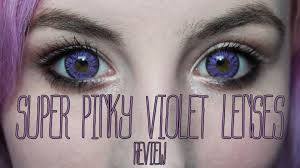 Halloween Prescription Contacts Lenses Uk by Purple Contact Lenses Review Super Pinky Violet From Honeycolor