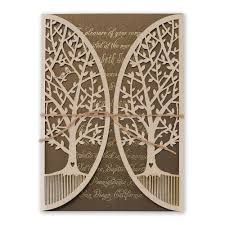 Rustic Wedding Invitations Natures Gateway Foil And Laser Cut Invitation