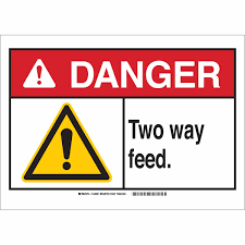 ANSI Sign Two Way Feed