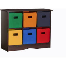Plastic Storage Cabinets At Walmart by Riverridge Kids Storage Cabinet With 6 Bins White And Primary
