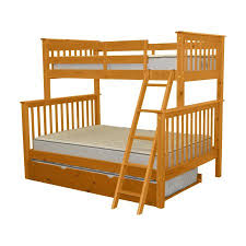 Bunk Beds At Walmart by Bunk Beds Twin Over Full Mission Honey Trundle Walmart Com
