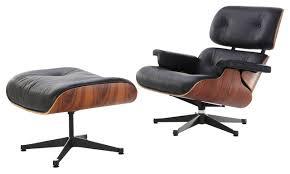 Manhattan Home Design Midcentury Modern Lounge Chair and Ottoman