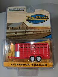 100 Toy Farm Trucks And Trailers 164 GreenLight TOP SHELF REPLICAS RED LIVESTOCK