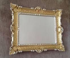 wandspiegel gold silber rechteckig antik look 56x46