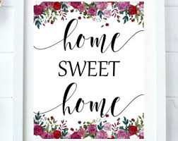 Home Sweet Print New Homeowners House Gift Idea Our First