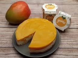 sommerliches mango skyr kuchen rezept yamo frische bio