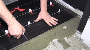 how to install 6x36 porcelain tiles with level master