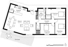 plan maison plain pied 3 chambres en l plan de maison plain pied 100m2 3 chambres design photo
