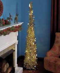 Image Is Loading 65 034 PRELIT LED SLIM GOLD SEQUIN LIGHTED