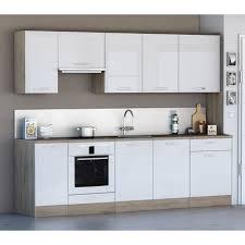 cuisine complete cuisine complète 260 cm scand style scandinave blanc et bois