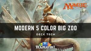 Zoo Mtg Deck List by Mtg Modern 5 Color Big Zoo Deck Tech Youtube