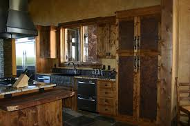 Kitchen Cabinet With Rustic Paint Color Design