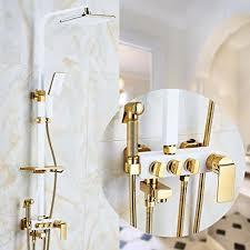 airobin kontinentale weiße farbe gold überzogenes badezimmer