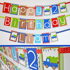 99 Truck Birthday Party Blue Banner Fully Assembled Christmas Etsy