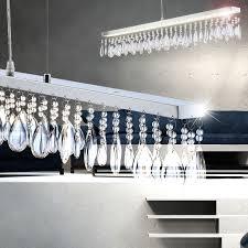 led hängeleuchte kristalle glasschirm h 120 cm muriel