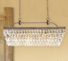 Pottery Barn Floor Lamp Assembly by Clarissa Glass Drop Extra Long Rectangular Chandelier Pottery Barn