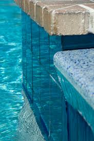 modono color shifting tiles used in a residential pool spa