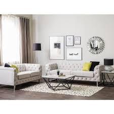 sofa set beige polsterbezug sitzgruppe chesterfield stil