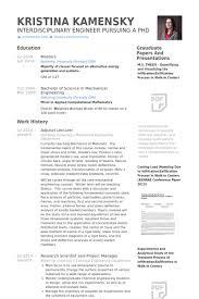 Adjunct Lecturer Resume Samples Visualcv Database Rh Com Computer Science Format Sample For