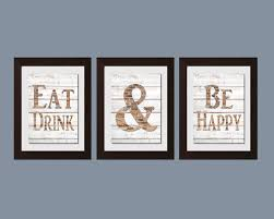 Modern Kitchen Wall Art Shabby Chic Eat And Drink