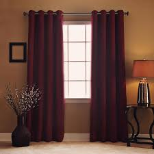 Burgundy Grommet Blackout Curtains by Curtains