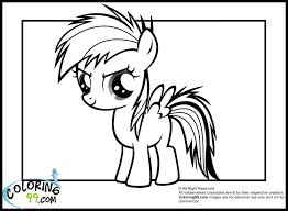 My Little Pony Coloring Pages Fluttershy Baby 2