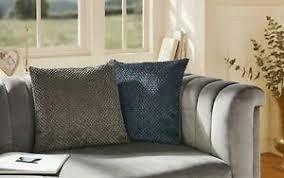 details zu kissenhülle kissenbezug bezug kissen deko wohnzimmer dunkelblau grau 2er set