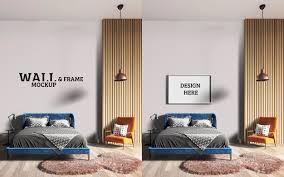 wand und rahmenmodell ein stilvolles schlafzimmer mit einem