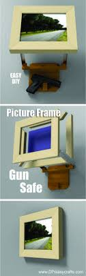 how to build a picture frame hidden gun safe easy diy project