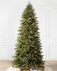 Pre Lit Slim Christmas Trees Argos by Pre Lit Christmas Trees With Clear Led Lights Balsam Hill