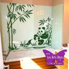 stickers pas cher stickers mural panda chinois asie chine bambou zen deco