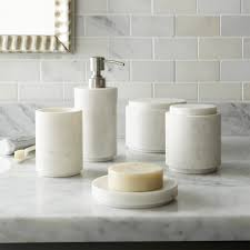 Crate And Barrel Tribeca Floor Lamp by High Low Marble Bath Accessories Remodelista Sourcebook For