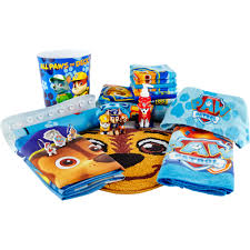 Mickey Mouse Bath Set Hooded Towels by Nickelodeon Paw Patrol Rescue Crew 6 Piece Wash Cloth Set