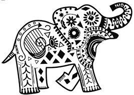 Pin Asian Elephant Clipart Coloring Sheet 9