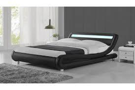Black Leather Headboard Single by Luxury Designer Bed In Black Faux Leather With Led Headboard In