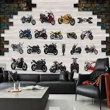 nostalgie retro welt berühmte motorrad motorrad hintergrund große fresko wohnzimmer papier schlafzimmer studie tapeten