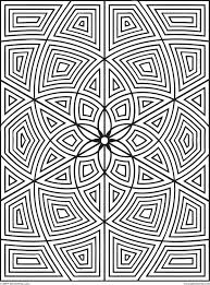 Free Geometric Coloring Pages Printable Archives Best Page Online