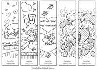 Printable Bookmarks To Colour Download