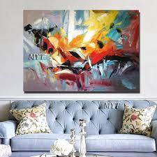 schöne ölgemälde auf leinwand moderne abstrakte farbe gemälde wohnzimmer wand moderne kunstwerk ziemlich farbe wand dekor