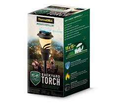 thermacell backyard torch mosquito repellent appliance mr ka